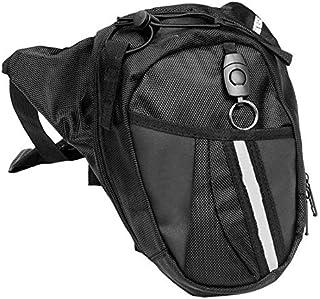 Jasnyfall PU Motocicletta Bagaglio Borsa bisaccia Roll Barrel Storage Bag Argento
