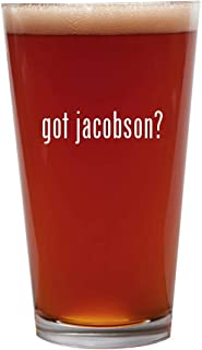 got jacobson? - 16oz Beer Pint Glass Cup