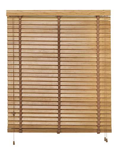 Desconocido VENECIANAS ESTORES Enrollable Veneciana Bambu 100%- PERSIANA Estor Enrollable Madera (Roble, 160X180)