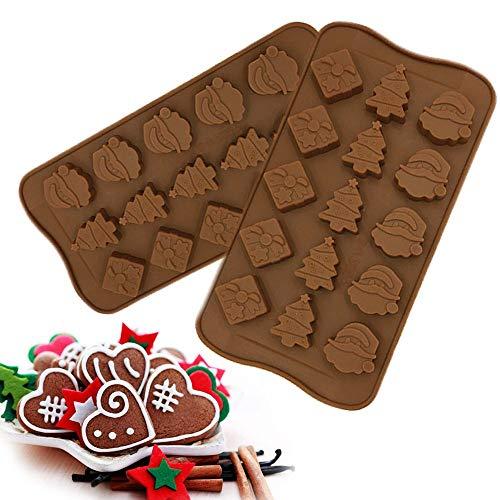 WYZXR 15-Weihnachtsdekoration Silikon Schokoladenkuchen EIS Backform (2er Set)