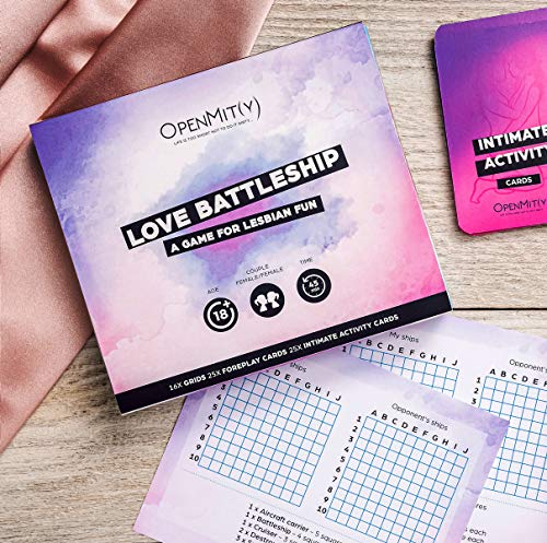 OpenMity Love Battleship Game for Lesbian Couples – Fun & Romantic Bedroom Game – Unique Valentines Day and Lesbian for Her