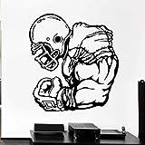Affiche De Joueur De Football Autocollant Mural Athlète Jeu De Sport Rugby Vinyle Autocollant Décalcomanie Décor À La Maison Chambre Salon Mural 42X46Cm