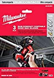 Milwaukee 48-39-0572 18 TPI Sub-Compact Portable Band Saw Blade (3-Pack)