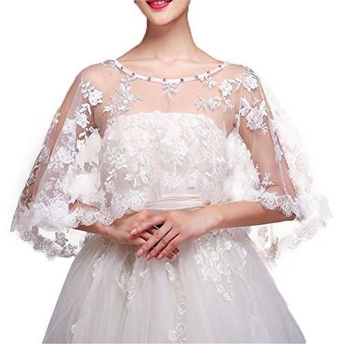 Brautschmuck für Damen, Spitze, Bolero, Hochzeit, Tüll, Umhang für Braut -  -  Einheitsgröße