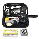 ZOYOSI Kit de herramientas de reparación de relojes, 380 unidades, 8 mm ~ 25 mm, pasadores de correa y llave para quitar eslabones