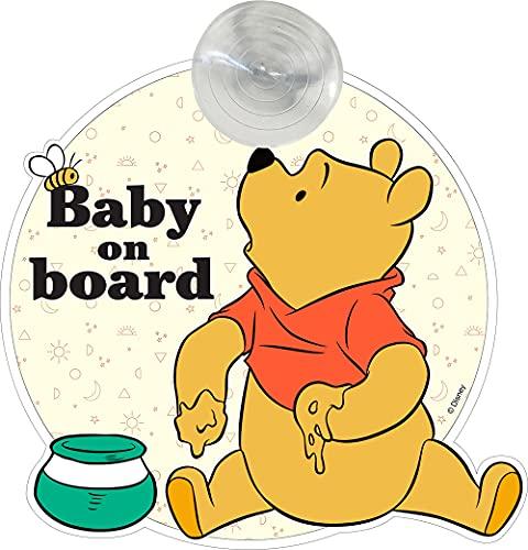 Disney Panneau de voiture pour bébé Winnie l'ourson avec fixation à ventouse, 500 g