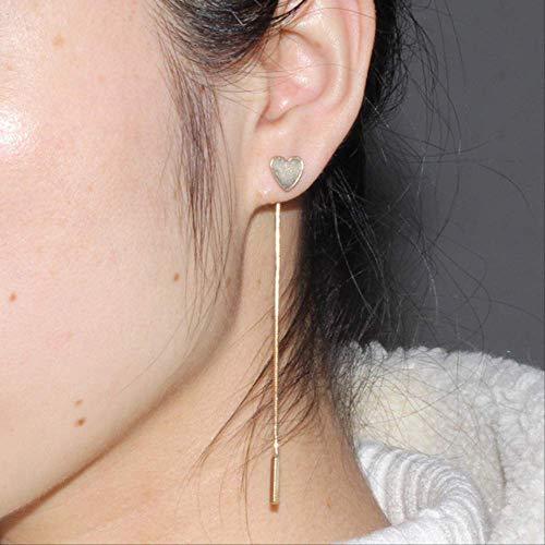 Oorbel bengelen eenvoudige Punk driehoekige hart geometrische metalen ketting kwasten oor sieraden oorbellen Vintage lange ketting Earringe078xin