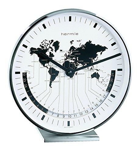 Hermle Uhrenmanufaktur Tischuhr, Silber