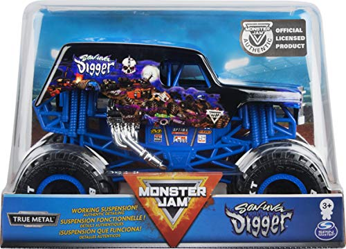 Monster Jam, Official Son-uva Digger Monster Truck, Die-Cast Vehicle, 1:24 Scale