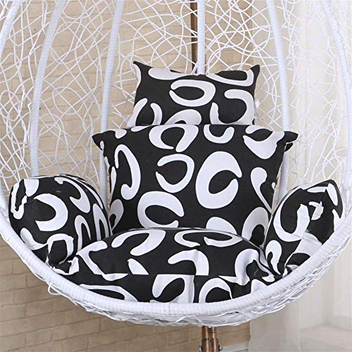 Shelves Square Seat Pad Hanging Basket Chair Cushion,Hanging Egg Hammock Chair Cushions, Without Stand Swing Seat Cushion Thick Nest Back With Pillow (Color : C, Size : 56x51cm(22x20inch)),Size:56x51c