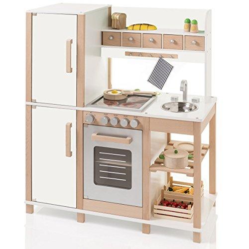 SUN Kinderküche Spielküche aus Holz in natur-weiss - 04138 - Küche