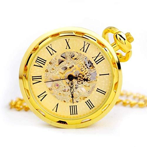 HCFSUK Reloj de Bolsillo con Estilo clásico.Reloj de Bolsillo, Reloj de Bolsillo de maquinaria Industrial Vintage, Reloj de Bolsillo Antiguo de Moda para Hombres y Mujeres, Regalo conmemorativo