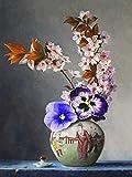 5D Pittura Diamante DIY Orchidea Strass Immagine Fiore Diamante Ricamo Vaso Punto Croce Nuovo Arrivo Home Decor A7 40x50cm