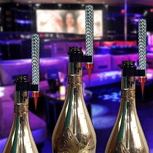 LED Bottle Service Sparklers Clips for Vip Nightclubs Led Sparkler Clips Bottle Baton Electronic sparkler plastic clips single holder 8PACK