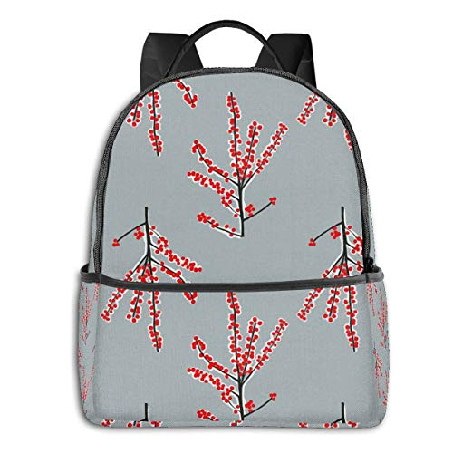 Qucoost Exotic Tree Daypack With Side Pockets, College School Bookbag Anti-Theft Multipurpose