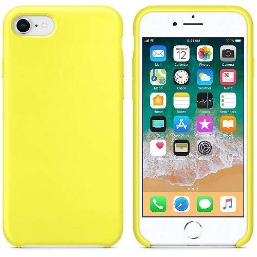 CABLEPELADO Funda Silicona iPhone 7/8 Textura Suave Color Amarillo fosforito