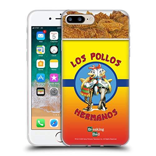 Head Case Designs Licenza Ufficiale Breaking Bad Los Pollos Hermanos Secchio di Pollo Iconico Cover in Morbido Gel Compatibile con Apple iPhone 7 Plus/iPhone 8 Plus