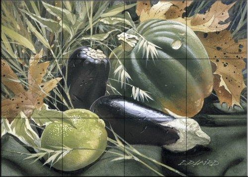 Ceramic Tile Mural - Calabaza - por Douglas Laird - salpicaduras de la cocina / baño de ducha