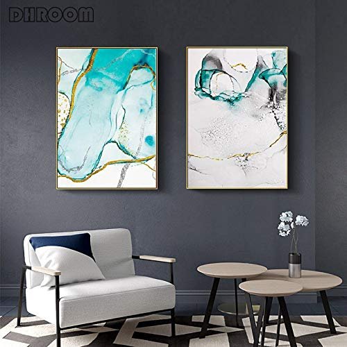 Gold foil art canvas wall art poster Nordic abstract colorful texture print painting decoration picture modern home decoration bar KTV restaurant decoration