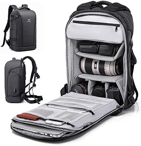 BAIGIO DSLR Kamerarucksack Fotorucksack Rucksack Kamera Wasserdicht Kameratasche mit Stativhalterung und USB-Ladeanschluss (Schwarz)
