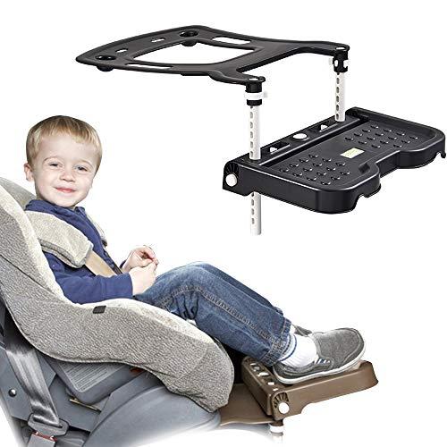 CX TECH Baby Autositz Pedal Kinder Autositz Fußstütze Knieschutz Booster Sitz Fußstütze Schutzkissen Halter 0-11 Jahre Kind Anwendbar,Black