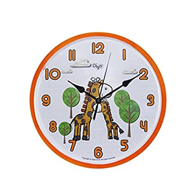 Silent Digital Decorative Wall Clocks for Kids- 12 inches - Contemporary Battery Operated Children Clock- Best Bedroom D?cor Ideas/ Baby Shower Gifts for Boys/ Girls/ Nursery