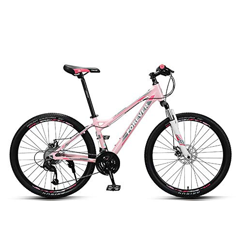 EAHKGmh Women Adult Mountain Bike 26 inch Mountain Bikes 27 Speed Bicycle Full Suspension Dual Disc Brakes Mountain Bicycles
