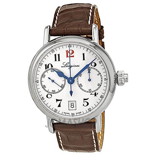 Longines Herren Chronograph Automatik Uhr mit Leder Armband L27754233