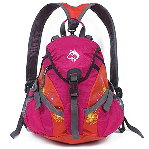 TH&Meoostny Bolsillos de Escalada de montaña Profesionales al Aire Libre Paquete Multifuncional Monedero Mochila Bolso de Hombro Pink Color