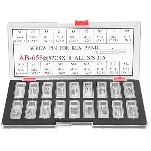 Eslabones de tornillo de reloj de ayuda eficaz profesional sujetan pasadores de tornillo de biela duraderos con alta dureza para reparación de relojes de relojero
