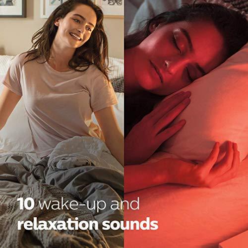Philips SmartSleep (HF3650/60) Sleep & Wake-up Light Therapy Lamp, With Sunrise Alarm & SunSet Fading Night Light, White