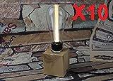 Digilamp - Bombilla LED de filamento regulable (3 W, casquillo E27, luz blanca cálida, 2200 K)