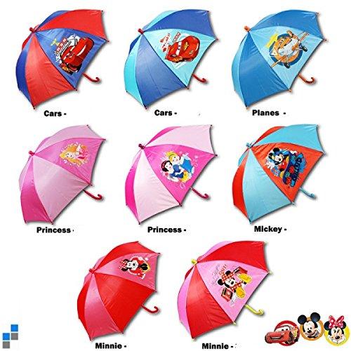 Disney Paraguas infantil (37 cm), diseño de Cars Princess Mickey Minnie Mouse