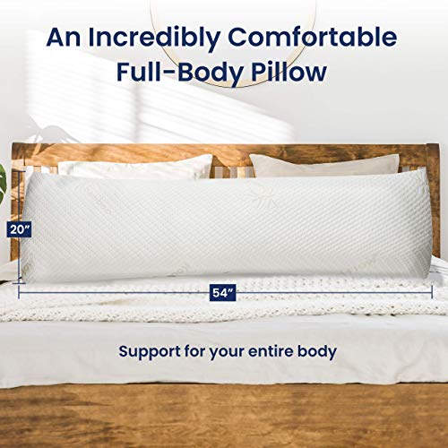 Kool-Flow Breathable Cooling Hypoallergenic body Pillow
