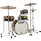 Pacific Daru Jones New Yorker 4-Piece Signature Kit w/Hardware & Bags - Gold to Black Sparkle Fade Lacquer Finish