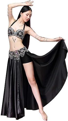 Z&X VêteHommests De Perforhommece Costume De Danse De Ventre, Adulte Perle Brodée De Danse De Soucravaten-Gorge