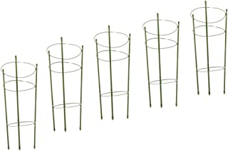 Flameer 5 x 60cm Climbing Plants Adjustable Plastic Support Ring Garden Trellis Flowers Fruit Tomato Cage Stand