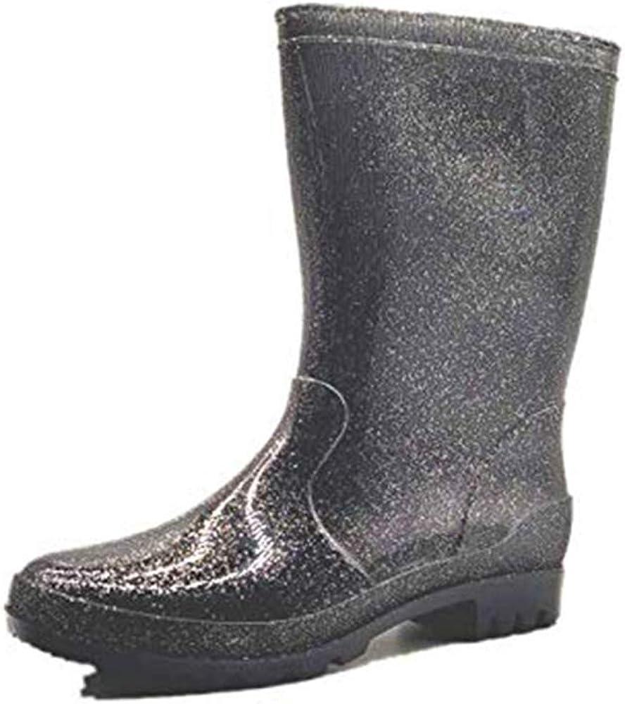 DY Rain Boots for Women Mid Wide Calf Waterproof Rain Boots Rubber Anti Slip Garden Shoes