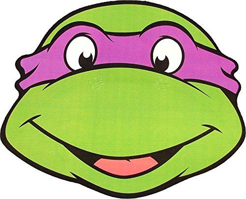 Star cutouts Teenage Mutant Ninja Turtles - Donatello - Card Face Mask