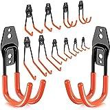 Greatever Garage Hook Set, Heavy Duty Tool Hangers Wall Mount Garage Storage Hooks Tool Storage for Ladders, Bike, Hoses, Garden Tools and More Equipment (12 Pack)