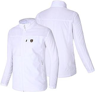 Fuerza Mens Built in Hood Windbreaker Foldable Golf Sports Lightweight Jacket