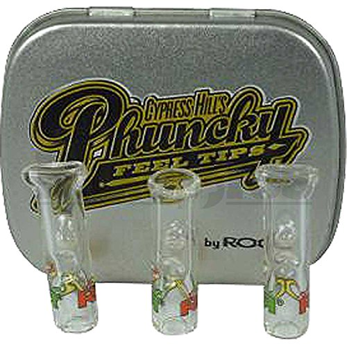 New Cypress Hill Phunky Glass Filter Tips from Roor 3 Piece Case for Easy Healthy Roach by Roor ltd