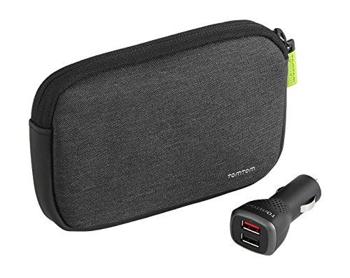 TomTom Premium Pack v2 Universaltragetasche plus Dual Fast Charger (Softtasche für 4,3 und 5 Zoll Geräte plus Dual Fast Charger)