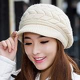 SED Sombrero De Señoras Otoño Invierno 璀璨 Línea Gorra Damas Cálida Orejeras Sombrero De Punto para Mantenerse Caliente,Pulir,Un tamaño