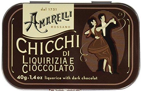 Amarelli Latta da Da Collezione Brown, Cioccolato & Liquirizia - 40 g