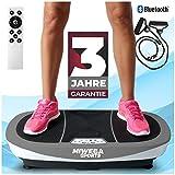 Miweba Sports Fitness Vibrationsplatte MV200 – 3 Vibrationsmodi – Horizontal – Vertikal – Oszillierend – 400 Watt (Grau)