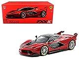 Bburago 16907r - Metro Pieghevole Ferrari FXX K 2014, Serie Signature, Scala 1:18, Colore: Rosso/Nero