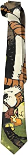 Mens Calvin And Hobbes Sleeping Leisure Wide Tie Necktie Costume Accessory Fashion Design