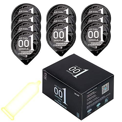 iTimo 0,01 mm ultradünnes Kondom für Männer, Naturlatex, 10 Stück/Karton (Normal)