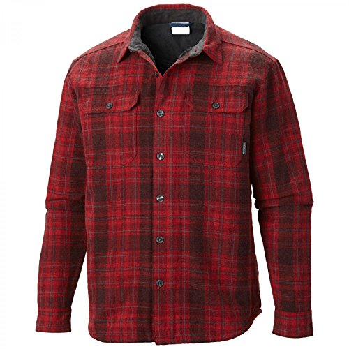 Columbia Windward III Chemise manches longues Homme Red Element Plaid FR : XXL (Taille Fabricant : XXL)